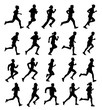 Running people