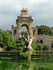 Fountain in the park De la Ciutadella in Barcelona - Spain