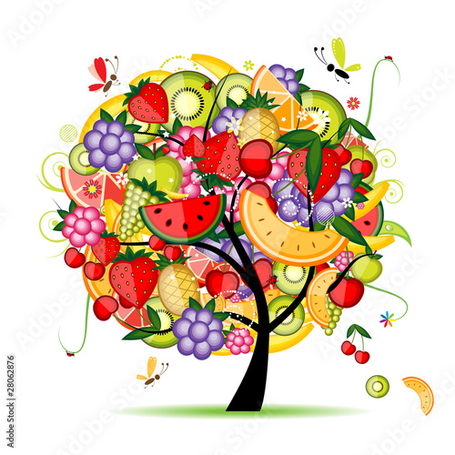 Energy fruit tree for your design