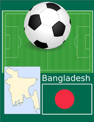Bangladesh soccer football sport world flag map
