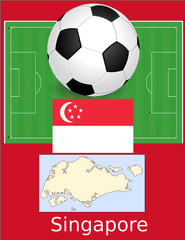 Singapore soccer football sport world flag map