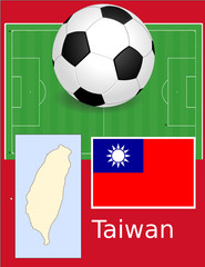 Taiwan soccer football sport world flag map