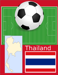 Thailand soccer football sport world flag map