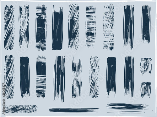 grunge brushes, vector