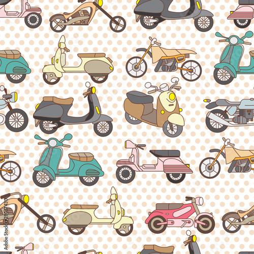 seamless motorcycle pattern - 28067430
