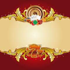 casino design element with gold frame