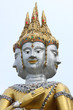Face of brahma statue in Thai art style.