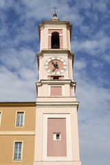 Clock tower in Nice. Provence. France
