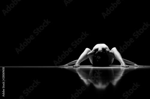 Fototapeten,nackt,frau,akrobat,silhouette