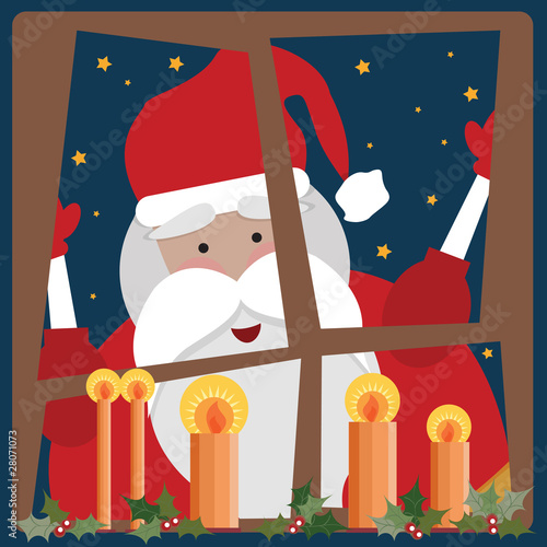 Santa Clause in a window