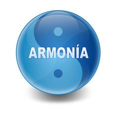 Esfera brillante texto ARMONIA