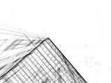 grattacielo illustrazione rendering 3d tratto