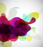 Fototapety abstract colored background with circles.