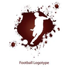 Logo player football (vector)