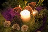 Fototapety stroik świąteczny widok z góry