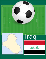 Iraq soccer football sport world flag map