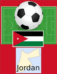 Jordan soccer football sport world flag map