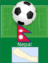 Nepal soccer football sport world flag map