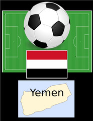 Yemen soccer football sport world flag map