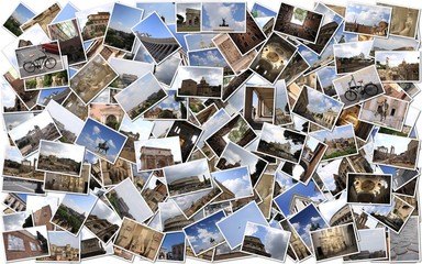 Background Stack of Roma Photos
