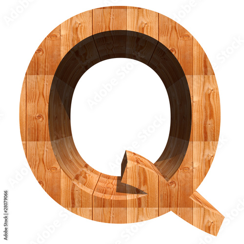 High resolution conceptual 3D wood font isolated on white