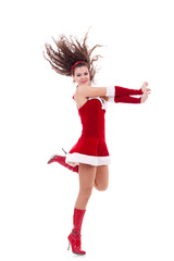 girl in santa