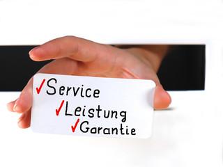Dienst am Kunden
