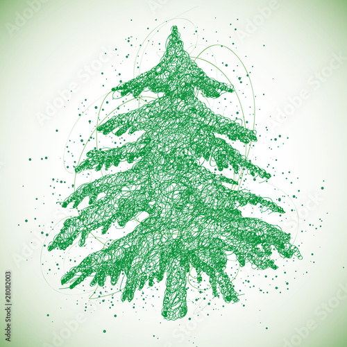 Christmas Tree Silhouette Vector Free Silhouette of Christmas Tree