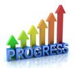 Progress colorful graph concept