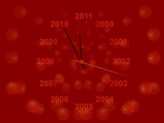 New Year clock, vector