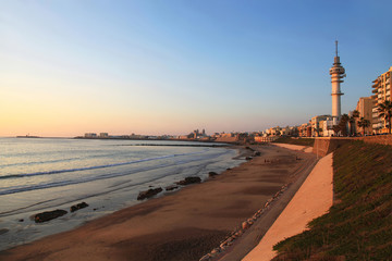 Cadiz at twilight