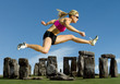 Athlete Jumps Over Stonehenge