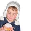 Kind freut sich auf den leckeren Krapfen