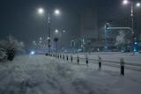 Blizzard in Warsaw centre,  Krolewska street - 28085086