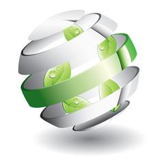 Leafs in sphere
