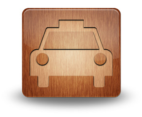 "Wooden Icon ""Taxi Cab"""