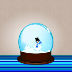 Vector snow-dome. Vector illustration