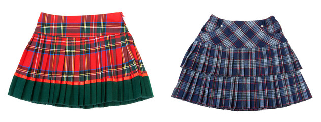 Collage two striped skirts