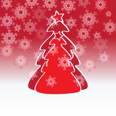 árboles de navidad rojos
