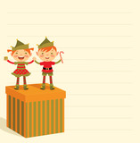 Christmas list of gifts and elves poster