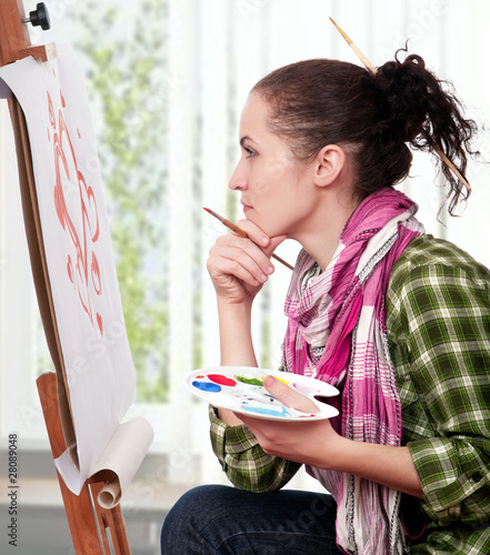 Female painter