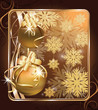 Christmas greeting golden card. vector illustration