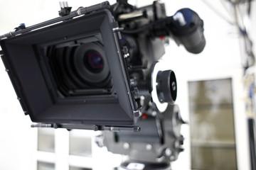 Digital movie camera on a set