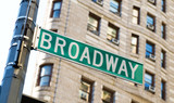Fototapety Famous broadway street signs in downtown New York