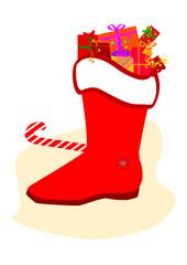 Nikolausstiefel - Santa Claus boots, gifts, sugar cane