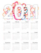 Colorful vector calendar for 2011