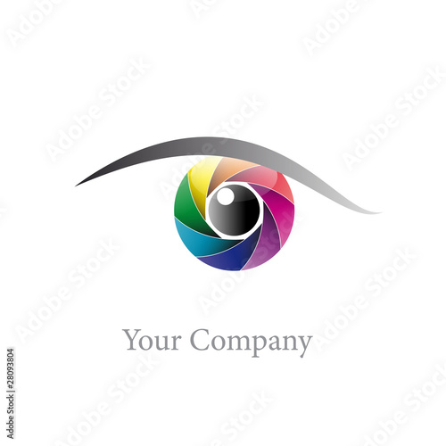Logo rainbow eye, iris (vector)