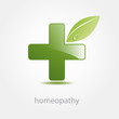 Logo homeopathy, alternative medicine (vector)