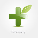 Logo homeopathy, alternative medicine (vector) poster