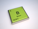 Boron chemical element of periodic table with symbol B poster